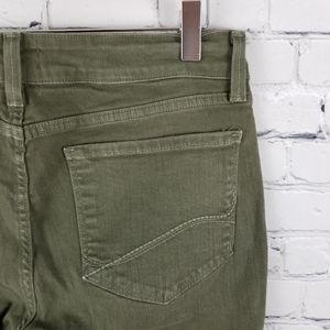 NYDJ | Clarissa olive green skinny ankle jeans